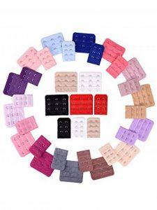 36 Pièces Extension de Soutien-Gorge Extensseur de Crochet, 2 et 3 Crochets, 18 Couleurs de la marque eBoot image 0 produit