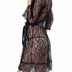 4 Pcs Nuisette Babydoll Kimono Sexy Robe de Nuit Noir Rouge de la marque ZIYI image 1 produit