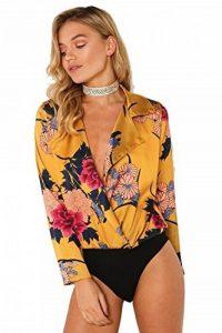 7 Fashion Road Body - Portefeuille - À Fleurs - Col Chemise Classique - Manches Longues - Femme de la marque 7 Fashion Road image 0 produit