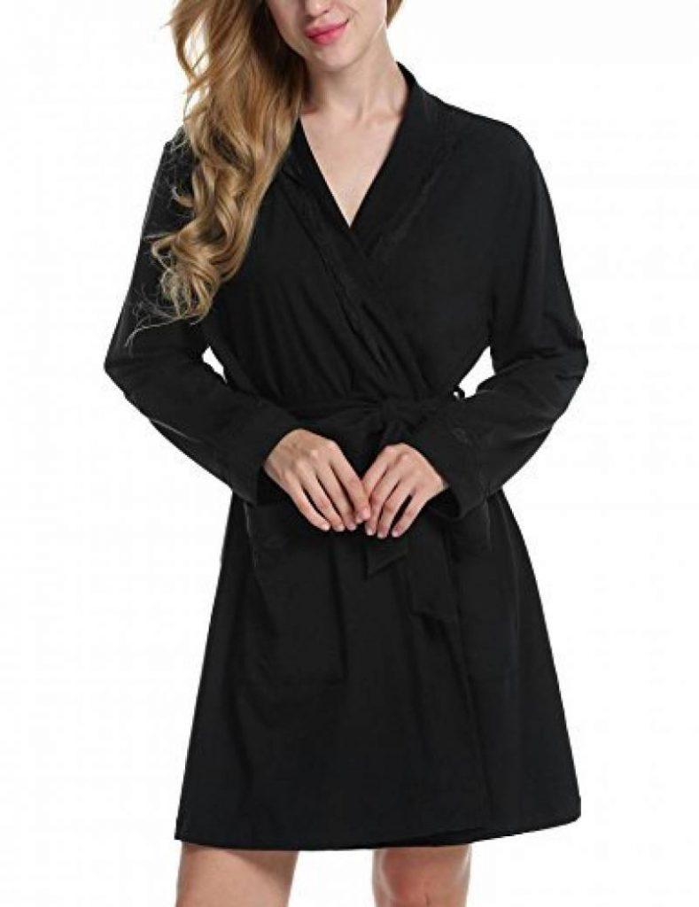 ADOME Kimono Femme Peignoir de Bain Coton Manches Longues avec Ceinture S- XXL de la marque ADOME a050c55266c