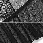 ADOMER Femme Nuisette Babydoll Sexy Ouverte Derrière Transparent String 2 Pcs de la marque ADOMER image 4 produit