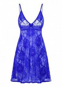 ADORNEVE Femme Nuisette robe de nuit Noel Babydoll Push-up Avec String Lingerie Dentelle de la marque ADORNEVE image 0 produit