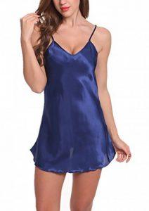 ADORNEVE Femme Robe de Nuit Bretelle Satinée Courtes Nuisette Sexy 1 Pcs de la marque ADORNEVE image 0 produit