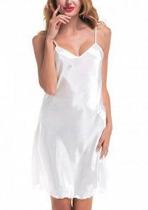 ADORNEVE Femme Robe de Nuit Bretelle Satinée Longues Nuisette Sexy 1 Pcs de la marque ADORNEVE image 0 produit