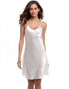 Aibrou chemise de nuit femme romantique nuisette satin et dentelle très sexy V profond Sling de la marque Aibrou image 0 produit