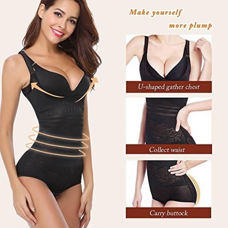 Aibrou Femme gaine amincissante body gainant ventre plat lingerie gainante  Minceur Combinaisons sculptantes de la marque Aibrou 42c6546642d