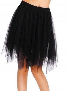 AMORETU Femme Vintage Jupon Mi-Longue Jupe En Tulle Taille Elastique Multi Couché Petticoat Asymétrique Tutu de la marque AMORETU image 0 produit