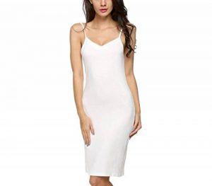 Avidlove Femme Chemise de Nuit Coton Fond de Robe Jupon Elégant Longue Bretelles de la marque Avidlove image 0 produit