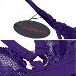 Avidlove Lingerie Femme Porte-jarretelles Floral Dentelle Sexy Bralette Soutien-Gorge sans Doublure St Valentin de la marque Avidlove image 4 produit