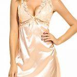 Avidlove Nuisette Sexy V-orné Satin Dos Nu Robe de Nuit Bretelles Dentelle et String de la marque Avidlove image 1 produit