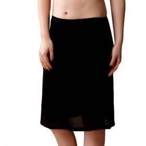 Baymate Femme Mince Jupe Tricotage Dentelle Slip Avec Taille élastiquée Stretch Fit Jupon de la marque Baymate image 0 produit