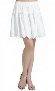 fb4dc3c32e39 BEAUTELICATE Femme Jupon Dentelle Lingerie Sous-Jupe Robe Coton Blanc  Ivoire Court Mi-long 55CM Pour Marige Fille de la marque BEAUTELICATE