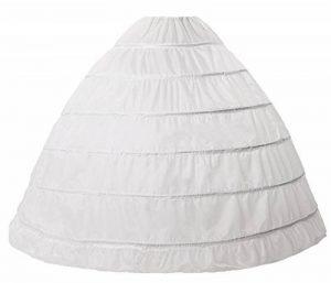 Beauty-Emily® femme long jupon sous robe mariage 6 cerceaux pour robe de mariée au sol grande taille Couleur blanc, taille unique de la marque Beauty-Emily image 0 produit