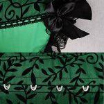 Beauty-You Femme Sexy Rétro Brocade Corset Overbust Bustier Lacets G-String de la marque Beauty-You image 3 produit