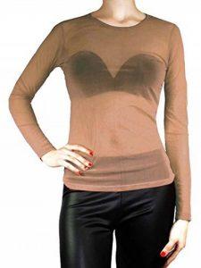 body transparent noir manche longue TOP 1 image 0 produit