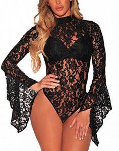 body transparent noir manche longue TOP 5 image 0 produit