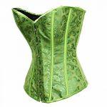 BSLINGERIE® Femme Sexy Floral Garniture Overbust Corset avec Thong de la marque Bslingerie image 2 produit