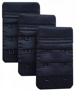 Chanie Femme Lot de 3 Doux Confortables Extensions de soutien-gorge 2 Crochets, 6,1cm x 3,8cm de la marque Chanie image 0 produit