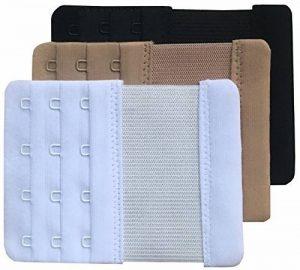 Chanie Femme Lot de 3 Doux Confortables Extensions de soutien-gorge 4 Crochets, 10,3cm x 7,6cm de la marque Chanie image 0 produit