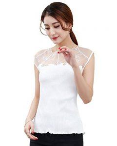 CHENGYANG Femme Mode Caraco Sans Manche Débardeur Creux Tops Dentelle Tank Tops de la marque CHENGYANG image 0 produit