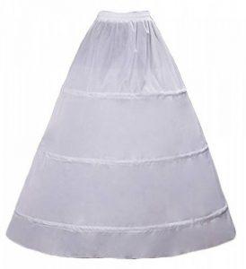 Crinoline Vintage Année 50s 3 Cerceau 1 Couche Petticoat Sans Traces Pour Robe De Mariage Soirée Cérémonie Cosplay Femme Jeune Fille Blanc de la marque Wookki image 0 produit