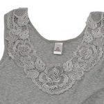 Débardeur - coton peigné - large empiècement dentelle - sans couture latérale - femme de la marque VCA Textil image 1 produit