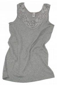 Débardeur - coton peigné - large empiècement dentelle - sans couture latérale - femme de la marque VCA Textil image 0 produit