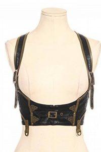 DEVIL SHACKLES gothique PU ceinture en cuir Steampunk Slim Gitting Girdle Gilet pour les femmes, 5 tailles de la marque DEVIL SHACKLES image 0 produit