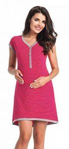 Di Vadini fait Chemise de nuit/Chemise de Nuit d'allaitement Franca en 100% coton/à manches courtes de la marque Di Vadini image 0 produit