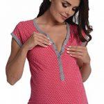 Di Vadini fait Chemise de nuit/Chemise de Nuit d'allaitement Franca en 100% coton/à manches courtes de la marque Di Vadini image 3 produit