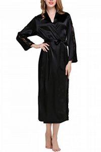 Dolamen Kimono Robe Femmes Longue, Femmes Chemises de nuit Dentelle, Robe peignoir en satin de soie Robe de nuit de demoiselle d'honneur pyjamas, Buste 108cm, 45.52 pouces de la marque Dolamen image 0 produit