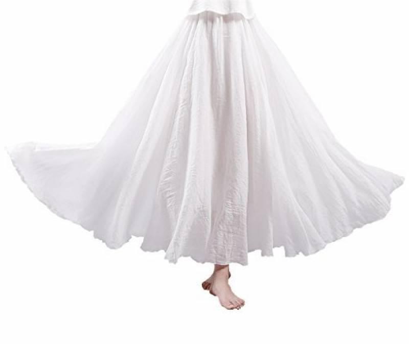 Jupon blanc long   faire une affaire pour 2019   Top Lingerie Femme 13b6731da72c