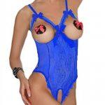 Evelure Femme Lingerie Sexy Erotique Nuisettes Fine Transparent Entrejambe Ouverte Grande Taille de la marque Evelure image 1 produit