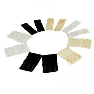 Extensions pour Soutien-Gorge,Elastiqu Bra Extenders avec Accroche Attaches de Soutien-Gorge 2/3 Accroches pour Lingerie Femme,Noir Blanc Beige 12 Pièces de la marque Febbya image 0 produit