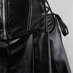 Faux cuir jupe corset steampunk bustier gothique zip sexy grande taille femme sexy robe ensemble burlesque érotique de la marque AIZEN image 2 produit
