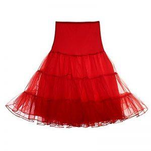 FeelinGirl Jupon Annees 50 Vintage Tulle Rockabilly Noir Rouge Blanc S-XL de la marque FeelinGirl image 0 produit