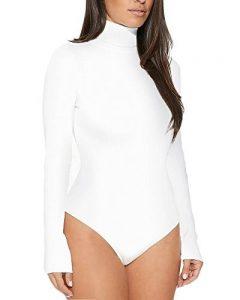 Femme Body Manches Longues A Col Roulé Body Danse Body Stretch Partie Justaucorps Haut de la marque LaoZan image 0 produit