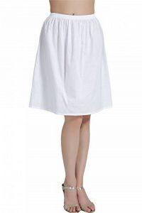Femme Jupon Lingerie Sous-Jupe Robe Coton Blanc Noir Ivoire Court Mi-long Pour Marige Fille de la marque BEAUTELICATE image 0 produit