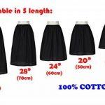 Femme Jupon Lingerie Sous-Jupe Robe Coton Blanc Noir Ivoire Court Mi-long Pour Marige Fille de la marque BEAUTELICATE image 1 produit