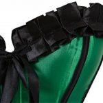 Femme satin overbrust korsett corset à lacets tailen former dessous top de la marque Rosfajiama image 3 produit