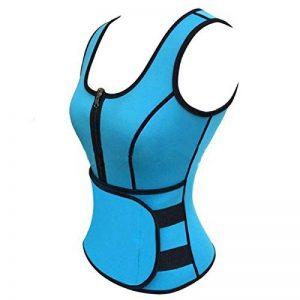 Femme Sports Fitness Velcro mince Taille Body Self–Chauffage Fat–Burning Chloroprène en caoutchouc Corps Vêtements de sculpture, Bleu, 90* 120cmxueyan et de la marque xueyan& image 0 produit