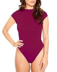 Femme Stretch Body Débardeur Manche Courte Jumpsuit Bodysuit Clubwear String Thong Maillot De Corps de la marque LaoZan image 0 produit