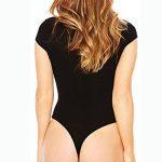Femme Stretch Body Débardeur Manche Courte Jumpsuit Bodysuit Clubwear String Thong Maillot De Corps de la marque LaoZan image 1 produit
