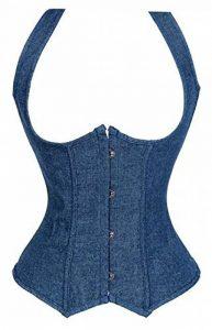 Femme Underbust Corset Vest Minceur Cowboy Bustier Taille Gris Pas Cher Lingeries Tops de la marque AIZEN image 0 produit