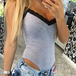 Femmes Stretch Body sans manches Top Ladies V-cou justaucorps Bodycon Rompers Jumpsuit Highdas de la marque Highdas image 1 produit