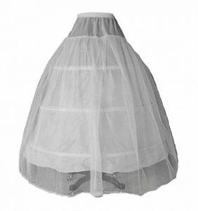 FNKSCRAFT Jupon crinoline hoopless mariage jupon crinoline bal de promo robe de mariée robe de bal mariage promo jupon slip mariage 3-hoop 1 couche de la marque FNKSCRAFT image 0 produit