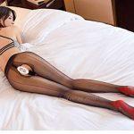 GaoXiao une grande ouverture bas noirs collants, chaussettes,black sox ligne rouge de la marque GaoXiao image 3 produit
