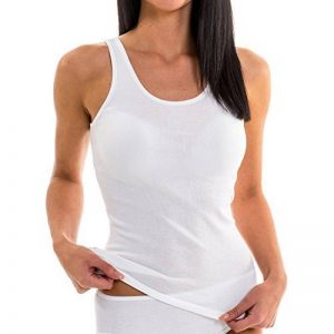 HERMKO 1310 Lot de 3 Caracos pour Femme en 100% coton , Tank Top de la marque HERMKO image 0 produit
