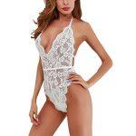 iBaste Femme Body Filet à Lingerie Nuisette Dentelle Floral Combinaison Babydoll String Set de la marque iBaste image 0 produit
