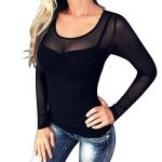 Imixcity Femme Sexy Col-V Sheer Mesh Clubwear Chemise See-Through Slim Fit Tops Grande Taille de la marque Imixcity image 2 produit